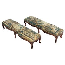 18th Century Louis XV Period Oak Prayer Benches - A Pair