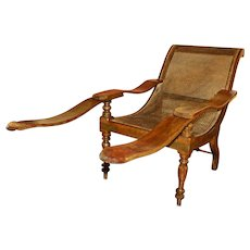 Mid - Late 19th Century British Colonial Teak Lounge Chair