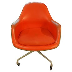 Mid Century Modern Swivel Arm Chair