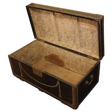 George III Nailed Leather Trunk