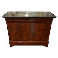 Louis Philippe Marble Top Mahogany Commode