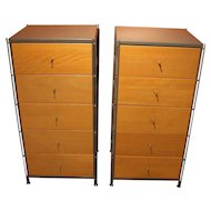 Pair of c. 1970's 5-Drawer Chests