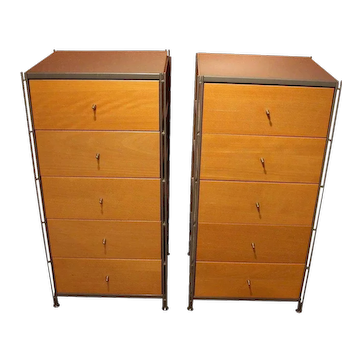 c.1970 Pair of 5-Drawer Chests