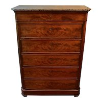 Marble Top Chest of Drawers Circa 1840