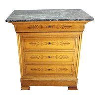 Mid-19th Century Louis Philippe 4-Drawer Commode