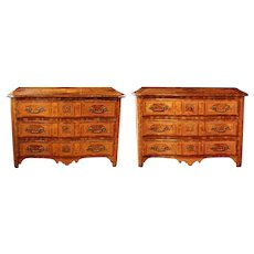 18th Century Pair of French Regence Commodes