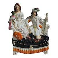 Staffordshire Figure of Musician & His Companion