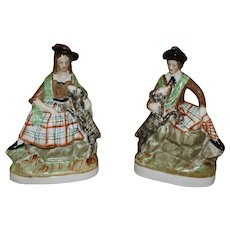 19th Century Staffordshire Scottish Figures - A Pair