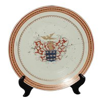 18th Century Style Chinese Export Armorial Chop Plate
