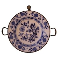19th Century Blue Onion Meissen Hot Water Entree Plate