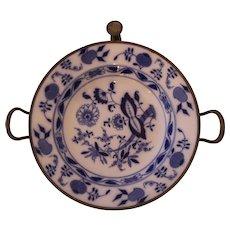 19th Century Blue Onion Meissen Hot Water Entree Plate