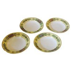 Set of 4 Sevres Soup Bowls