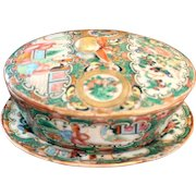 Chinese Export Rose Medallion Soap Dish