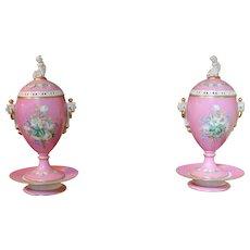 Old Paris Pair of Urns