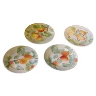 Set of Aesthetic Movement Floral Plates