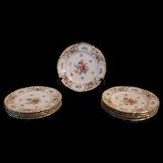 """8 Dresden """"Empress"""" Service Plates"""