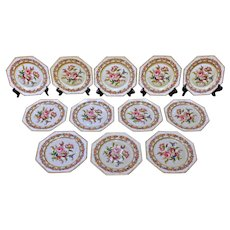 "Set of 12 Octagonal Rosenthal ""Vienna""Luncheon Plates"