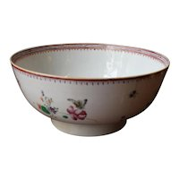c.1770-90 Neoclassical Chinese Export Punch Bowl