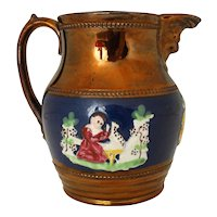 19th Century Copper Luster Pitcher