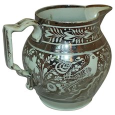 19th Century Silver Luster Pearlware Pitcher