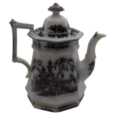 Ironstone Coffee Pot