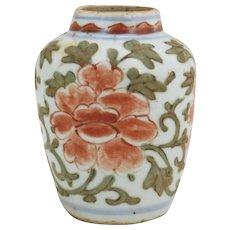 Ming Floral Wucai Jar
