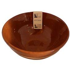 Brown Striped Mixing Bowl from Andy Warhol Estate