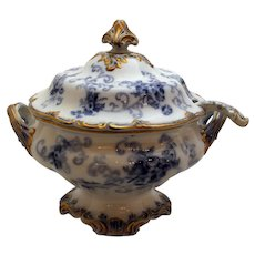 Rococo Revival Soup Tureen and Ladle