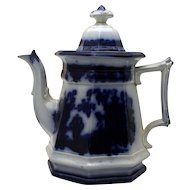 Flow Blue Tea Pot