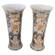 Pair of French Bayeaux vases, c. 1860