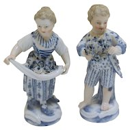 Pair of Meissen Flower Seller Children