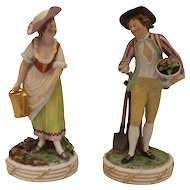 Pair of Gardener Figures