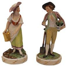 Pair of Gardener Figures