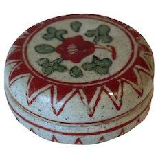 A late Ming Zhangzhou seal paste box