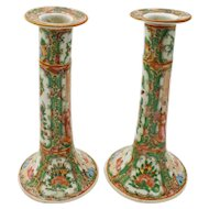 Rose Medallion Candlesticks