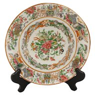 Rose Canton Chinese Export Plate