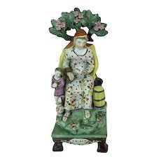 "Staffordshire figure ""Widow"", c. 1820."
