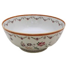 Chinese Export Punch Bowl, c. 1780