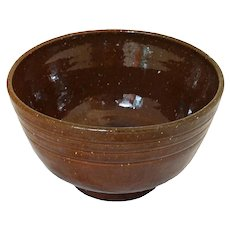 Tobacco Spit Glaze Jugtown Bowl