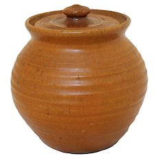 Pumpkin Glazed Bean Pot