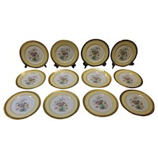 Set of 12 Gilt Service Plates