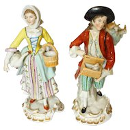 Pair of Sitzendorf Figures