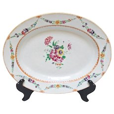 Chinese Export Platter with Floral Design