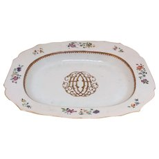 Chinese Export Monogram Platter