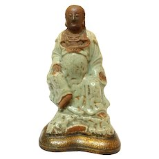 Celadon & Biscuit Figure of Zhenwu from Ming Dynasty