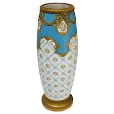 """""""Sevres"""" Bleu Celeste Porcelain Vase"""