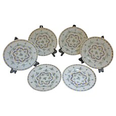 Set of 6 Delft Plates