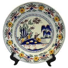 Delft Charger, Polychrome, c. 1780