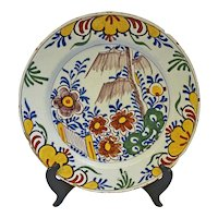 Delft Polychrome Charger, Late 18th c.