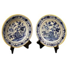 Pair of Delft Plates, Late 18th Century